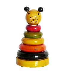 Ring Teddy - Wooden Chennapatna Toy