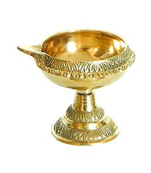 Brass Kuber Diya with Stand