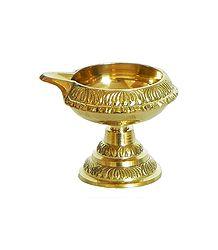 Brass Kuber Diya with Stand