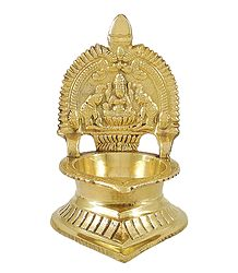 Shop Online Brass Oil Lamp with Lakshmi