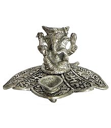 Ghee or Oil Lamp with Ganesha