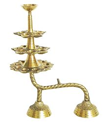 Hand Held 21 Brass Oil Lamps