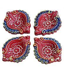 Terracotta Diyas