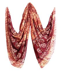 Printed Crushed Cotton Dupatta