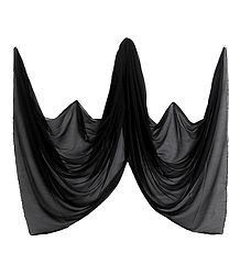 Black Synthetic Dupatta
