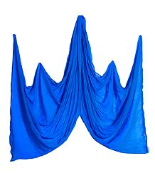 Blue Synthetic Crushed Dupatta