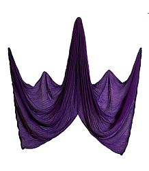 Purple Chiffon Crushed Dupatta