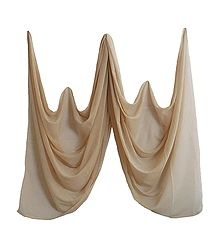 Beige Synthetic Dupatta for Women