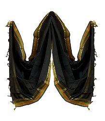 Buy Black Cotton Dupatta