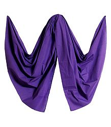 Purple Handloom Cotton Dupatta