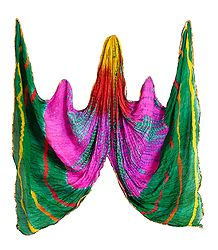 Crushed Multicolor Synthetic Dupatta