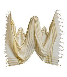 Off-White South Cotton Striped Chunni