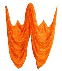 Saffron Tie and Dye Chiffon Chunni