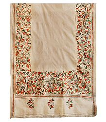 Kantha Embroidery on Tussar Dupatta