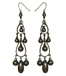 Acrylic Brown Dangle Earrings