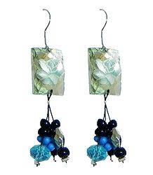 Fancy Blue Acrylic Earrings