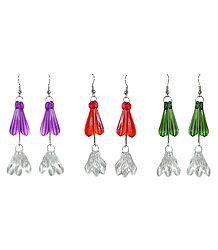Set of 3 Pairs Acrylic Drop Earrings