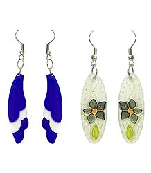 Set of 2 Pairs Acrylic Dangle Earrings