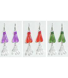 3 Pairs of Acrylic Drop Earrings