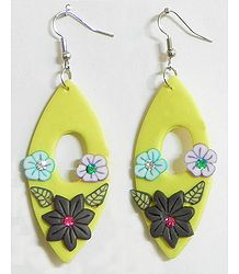 Yellow Floral Earrings