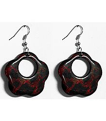 Affordable Red and Black Earrings
