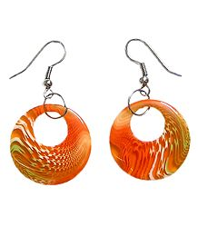 Saffron Acrylic Hoop Earrings