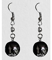 Black Ball Earrings