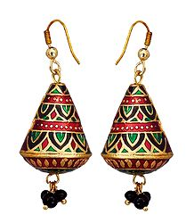 Meenakari Metal Dangle Earrings
