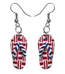 Pair of Rubber Sandal Earrings