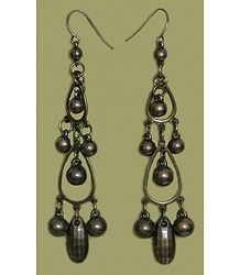 Acrylic Brown Dangle Earrings