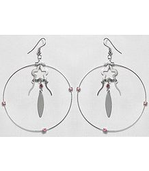 Designer Metal Ring Earrings