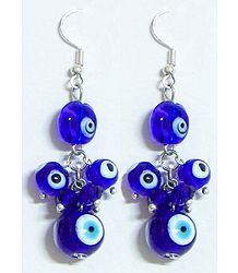 Blue Stone Bead Earrings