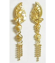 Gold Plated Dangle Earrings