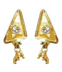 Gold Plated Metal Post Earrings