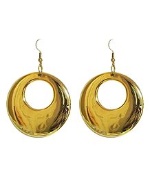 Golden Acrylic Hoop Earrings