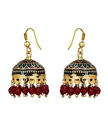 Meenakari Jhumka Metal Earrings