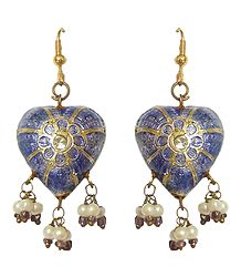 Shop Online Heart Shaped Meenakari Lac Earrings