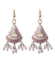 Buy Meenakari Lac Dangle Earrings
