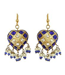 Lac Meenakari Earrings