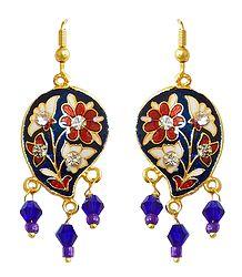 Blue Meenakari Earrings
