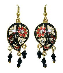 Black Meenakari Earrings