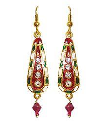 Buy Online Meenakari Dangle Earrings