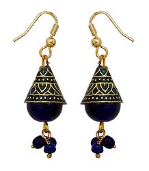 Meenakari Metal Jhumka Earrings