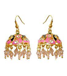 Meenakari Jhumka Metal Earrings