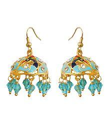 Buy Meenakari Jhumka Metal Earrings