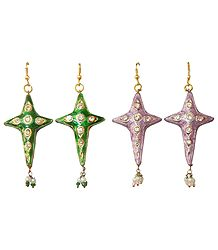 Dangle Meenakari Earrings