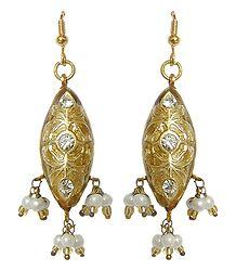 Lac Meenakari Earrings - Shop Online
