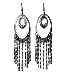 Metal Chandelier Hoop Earrings