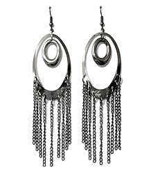 Metal Chandelier Hoop Earrings