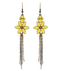 Fashionable Yellow Flower Earrings